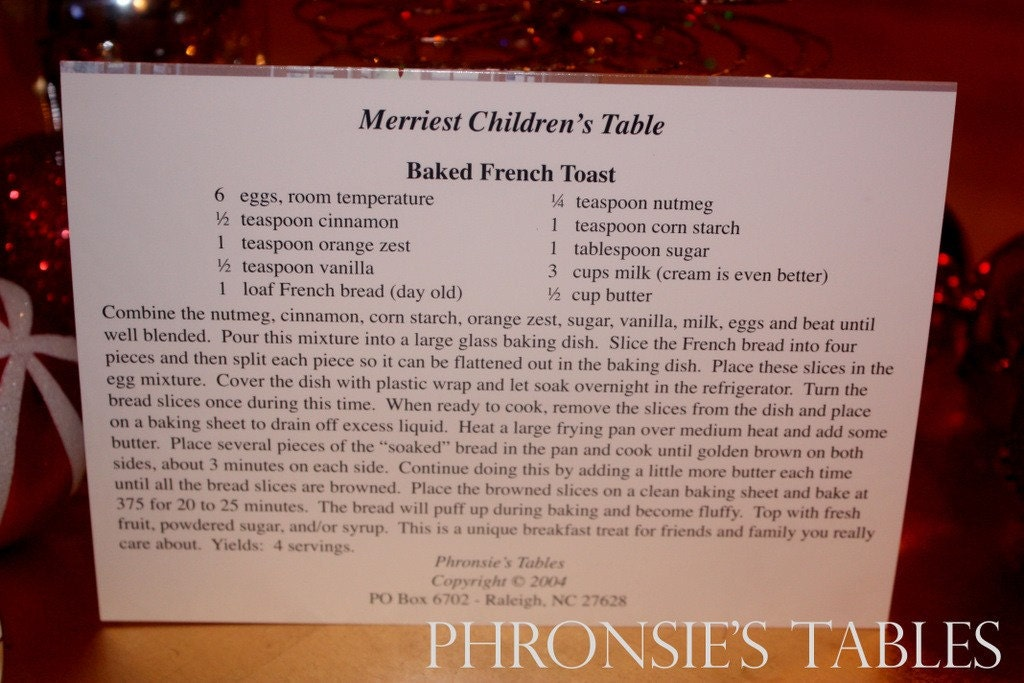 Christmas Greeting Cards - Merriest Children's Table