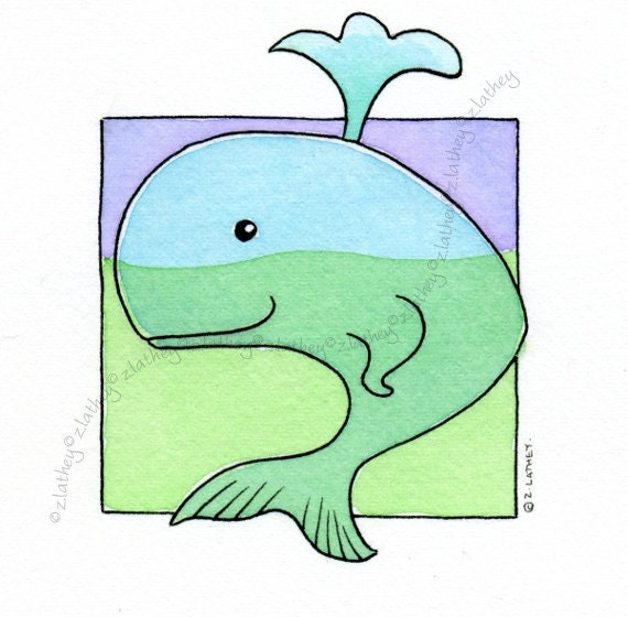 Blue Whale - Original Watercolour