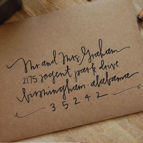 Items Similar To Handwritten Envelopes On Etsy