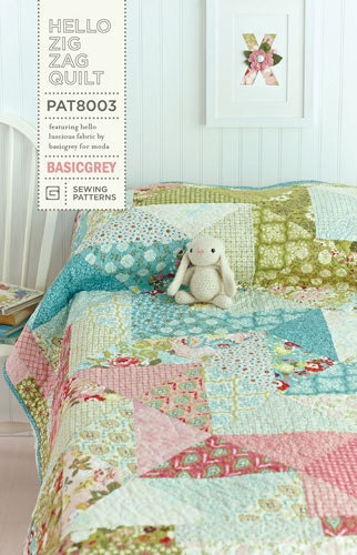 Hello Zig Zag Quilt Pattern : Hello Zig Zag Quilt Pattern by Basic Grey by LilyRoseQuilts