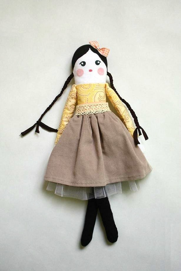 vintage dolls made of cloth