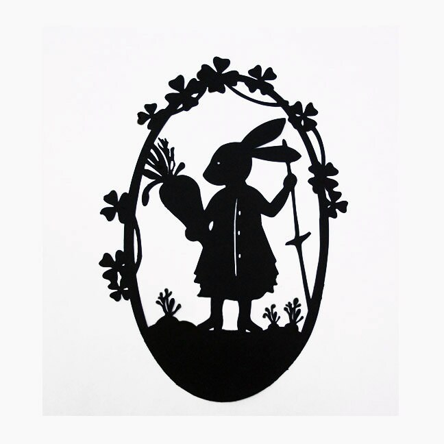 Rabbit's Four Carrots Silhouette
