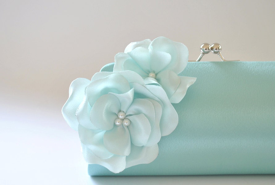 Bridal Clutch - Aqua - Light blue - Vanijja