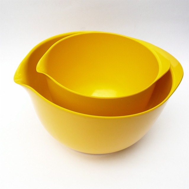 Rosti Mepal Bowls/Bright Yellow by FoundVintageStyle on Etsy