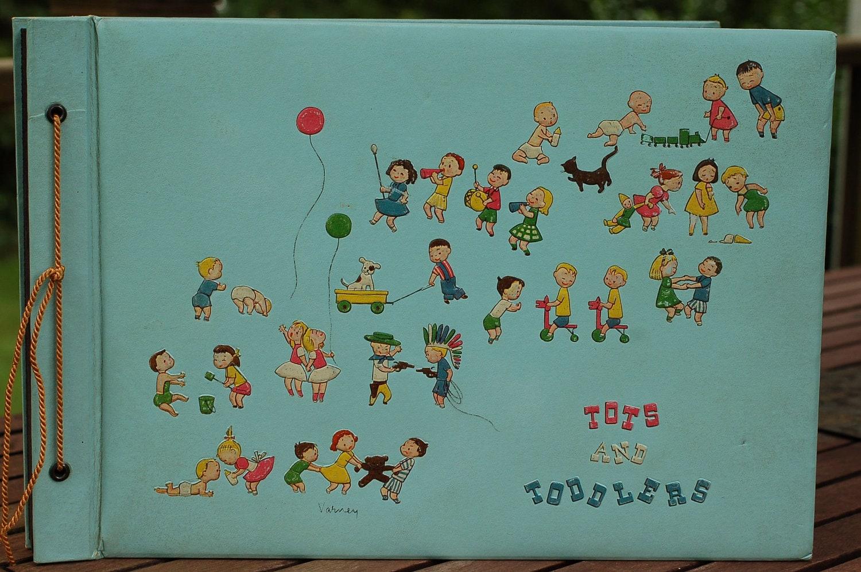 Vintage Unused 1950s Children's Scrapbook Tots and Toddlers - BlackGoatVintage