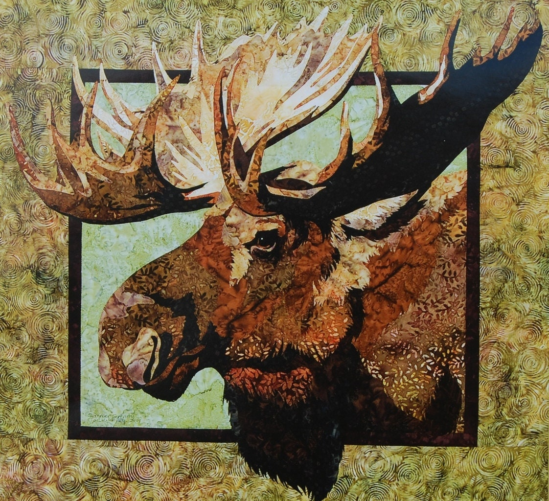 Moose Quilt Pattern By Toni Whitney Of By Vintageinspiration