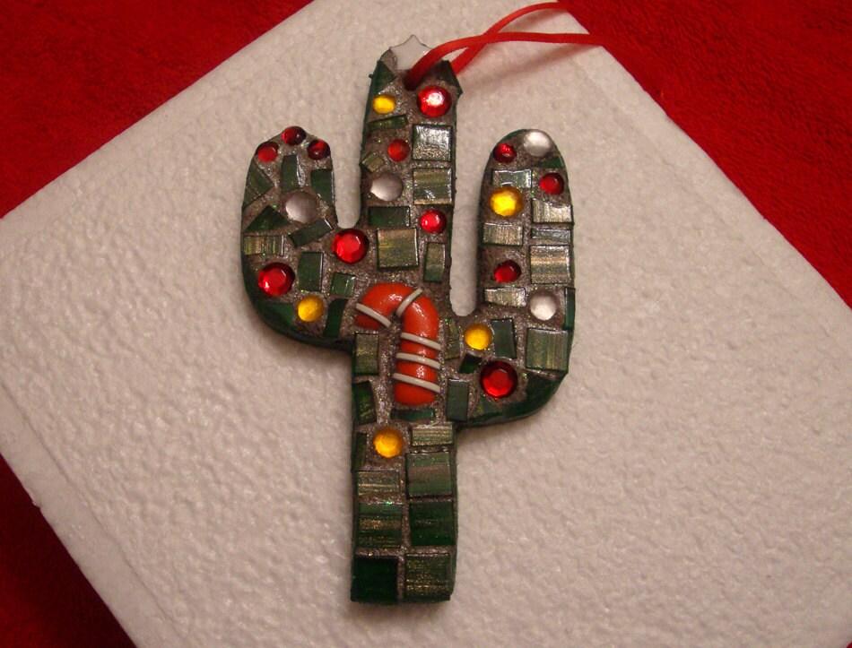 Mosaic Cactus Ornament - zzbob