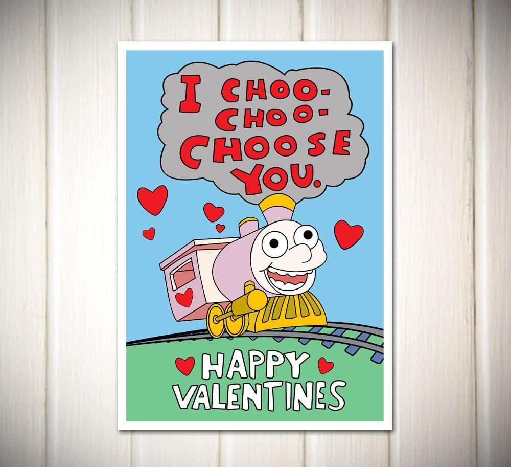 Old Fashioned image for i choo choo choose you printable card