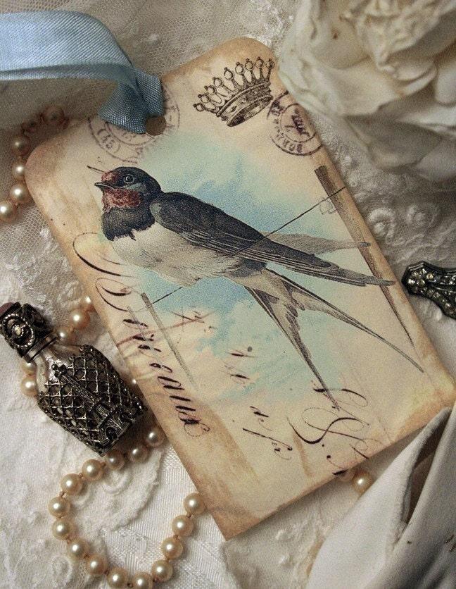 Springtime Barn Swallow Hang Tag Set