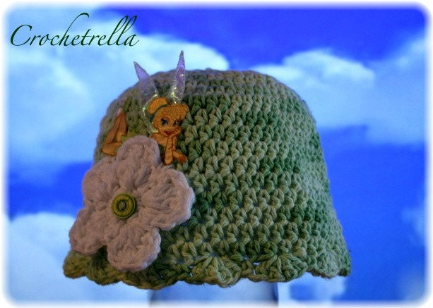 Free Crochet Pattern For Tinkerbell Hat : Etsy - Your place to buy and sell all things handmade ...