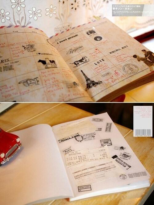 Vintage Style Stamp Set ( 6 sheet)