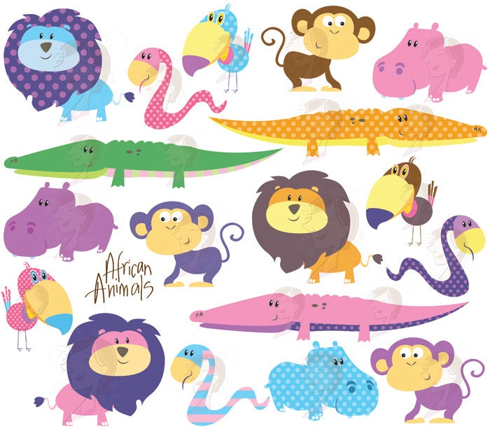 Baby animals clip art for baby showers