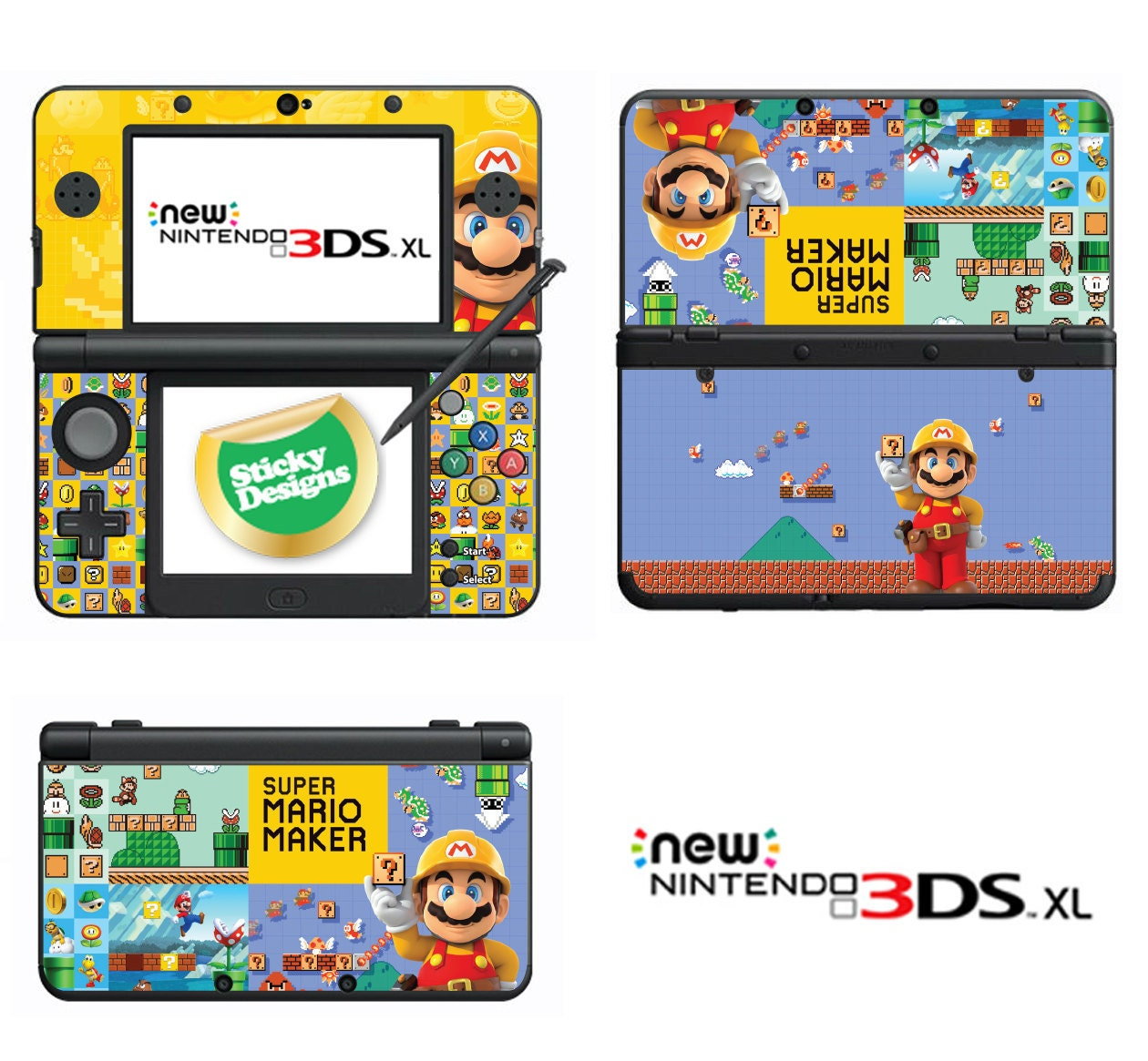 Super Mario Maker Vinyl Skin Sticker for Nintendo DS liteDSiDSi xl3DS3DS xlNew 3DS cstickNew 3DS xl cstick2DS