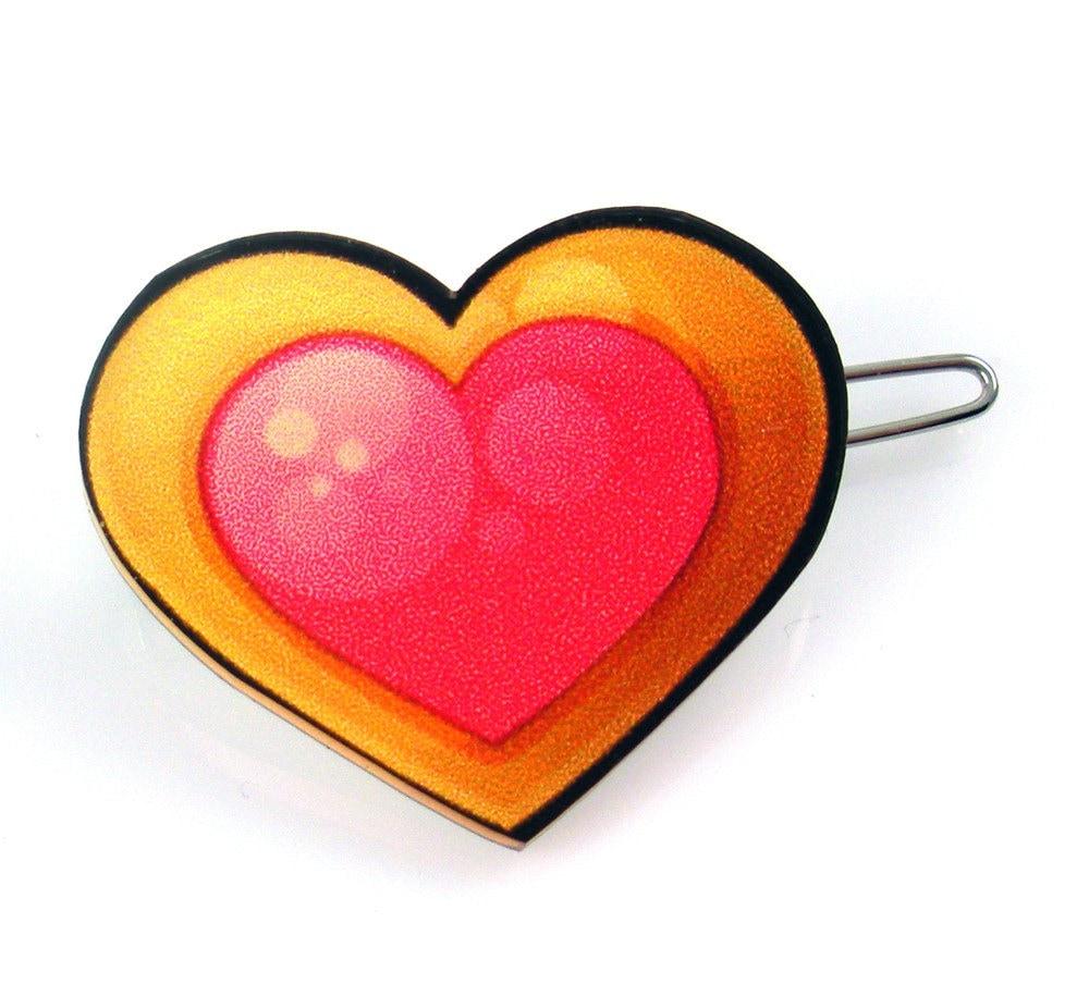 Heart Cookie Barrette