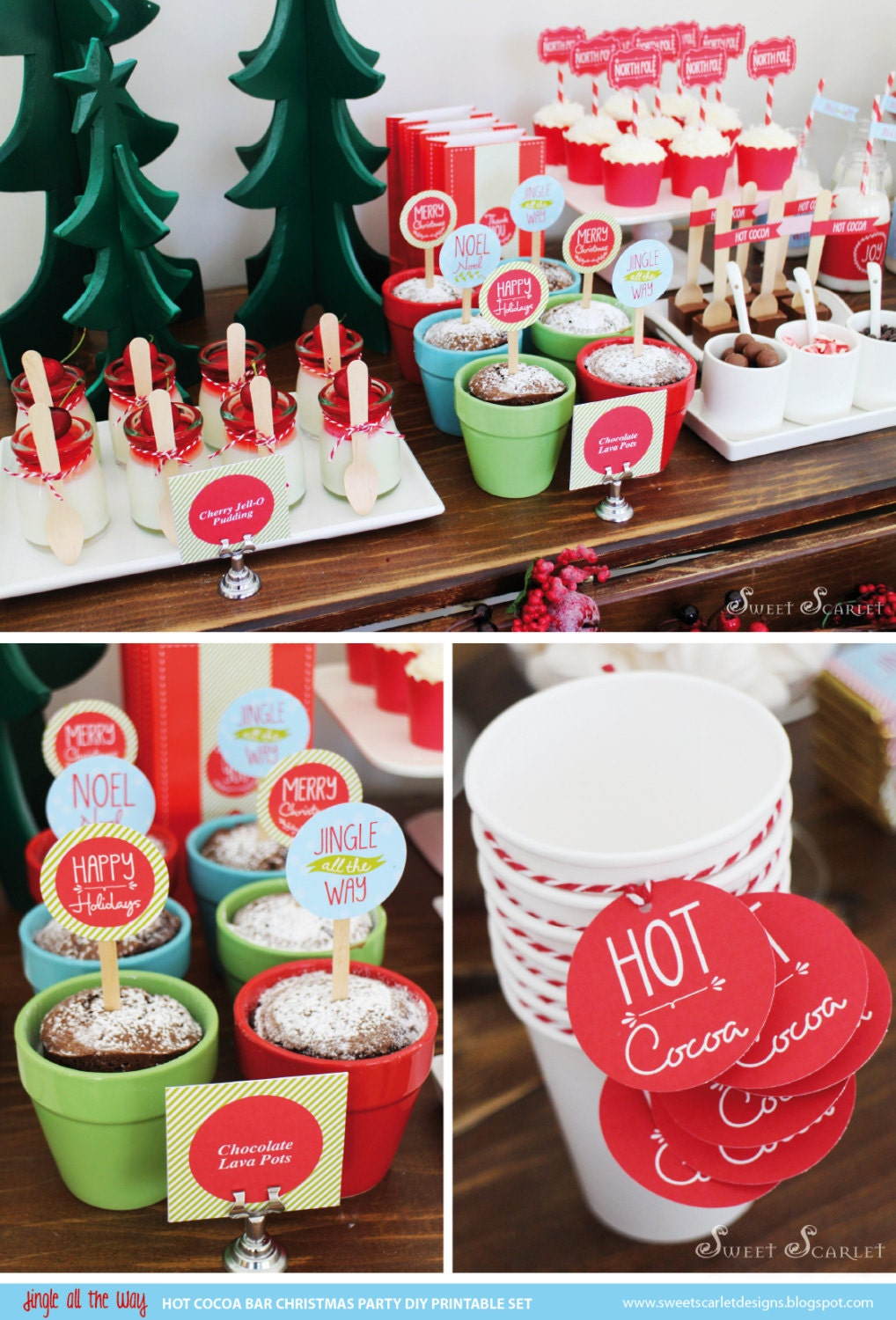 Christmas Printable Set Hot Cocoa Bar By Sweetscarletdesigns