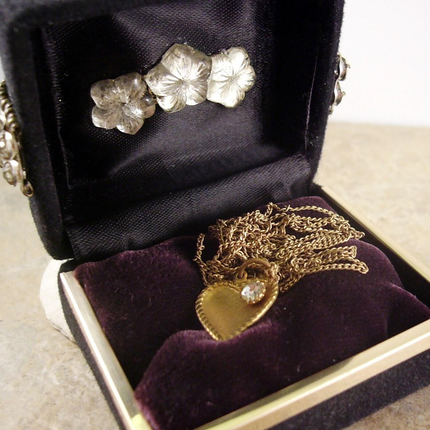 Rhinestone Pheasant Bird Jewelry Treasure Box- Altered Art Assemblage One of a Kind