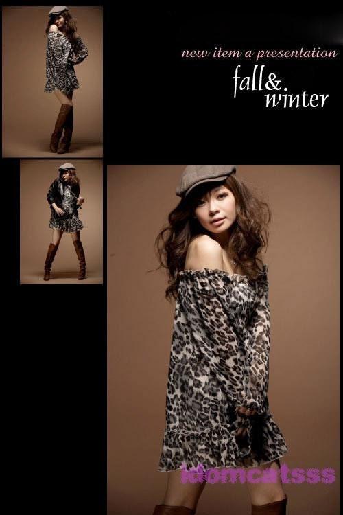 براون نوعی پارچه ابریشمی چاپ پلنگ لباس 02