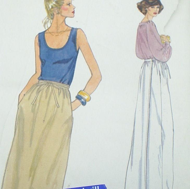 Vintage 80's Ladies Wrap Skirt