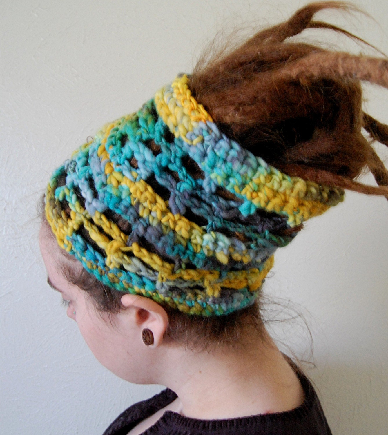 summertime crochet hair wrap dread tube cuff
