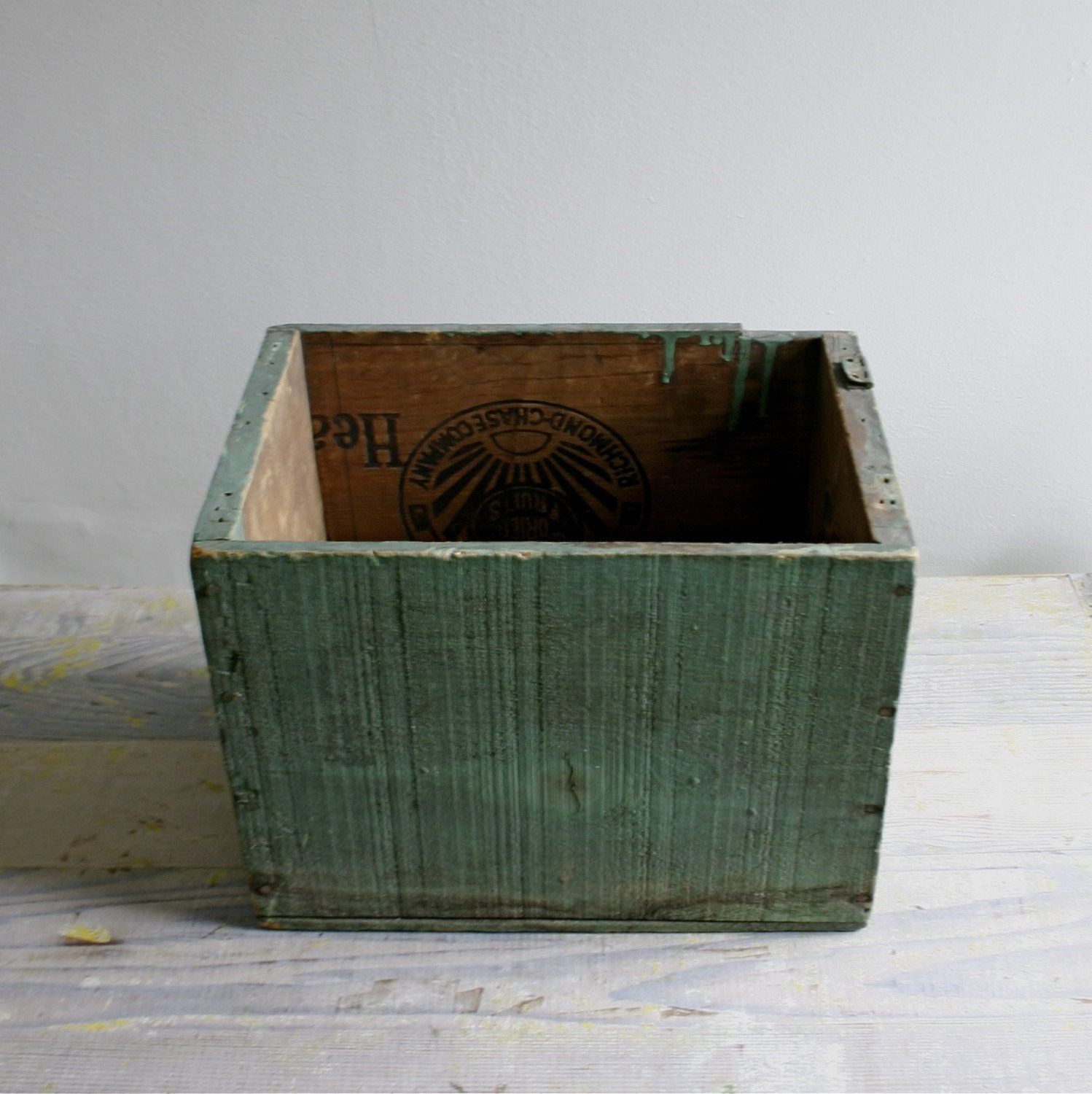 Vintage Milk Painted Fruit Box