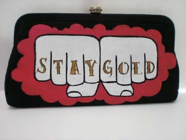 stay gold. tattoo. upcycled. vintage
