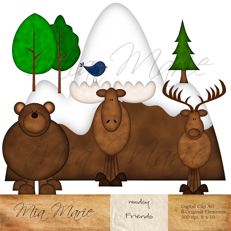 Moose Clip Art Clip art bear clipart by