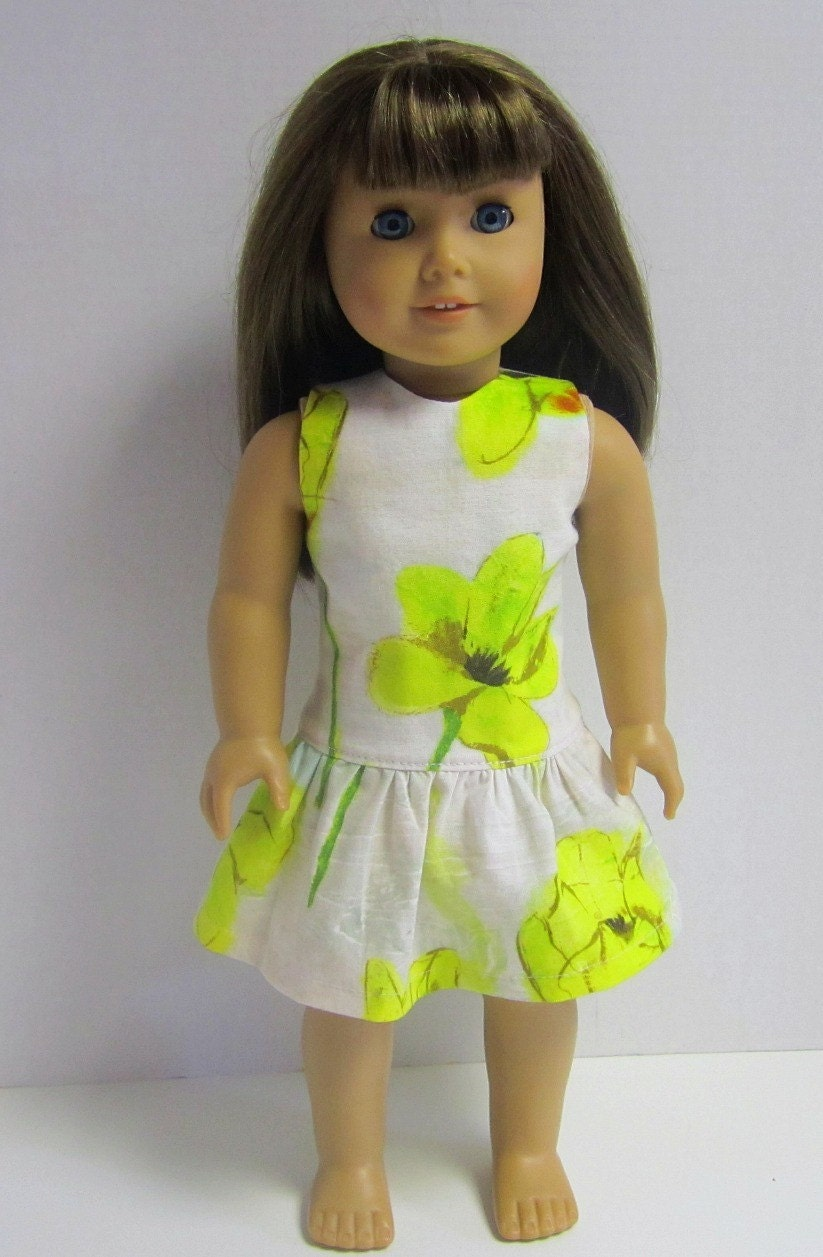 Drop Waist Spring Dress Crazy For Hue Original In Laura Gunn Yellow Tulips