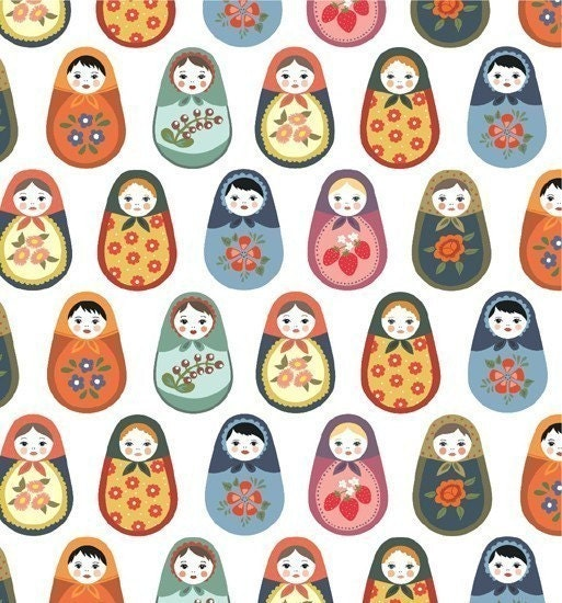 matryoshka wrapping paper / gift wrap
