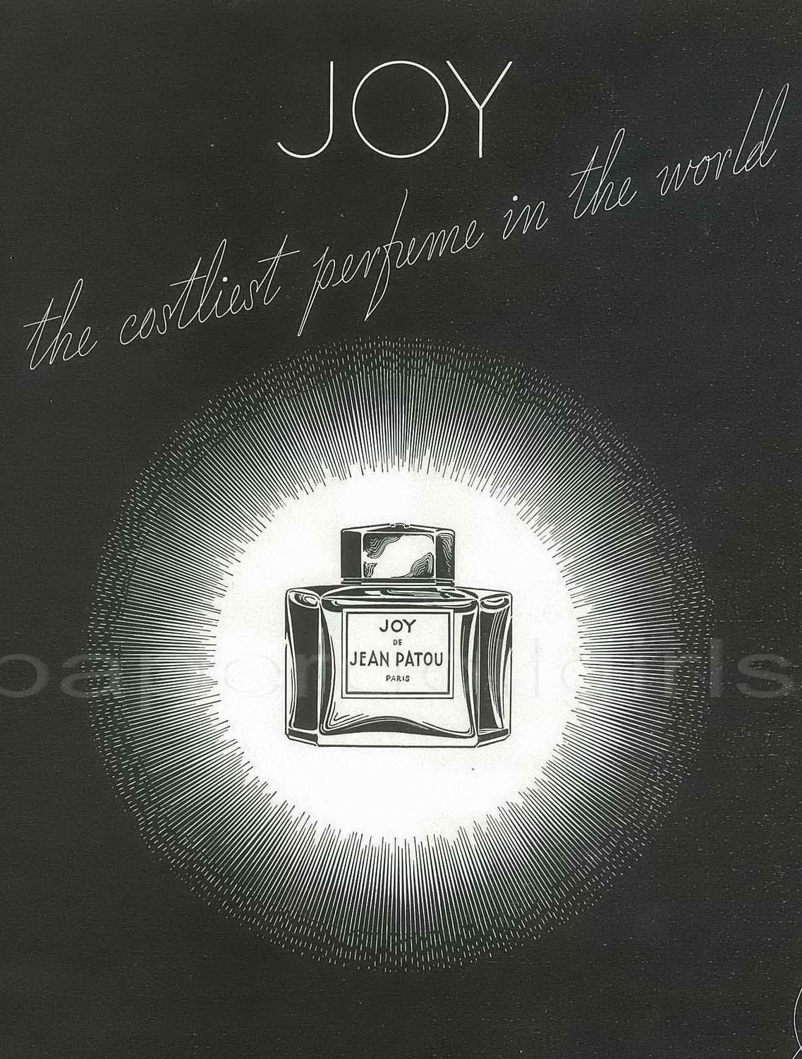 Harpers Bazaar 1936 Magazine Advertisement JOY Perfume by JEAN PATOU Perfumes Paris