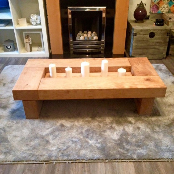 oak coffee table sleeper table wood coffee table coffee table rustic coffee table handmade coffee table