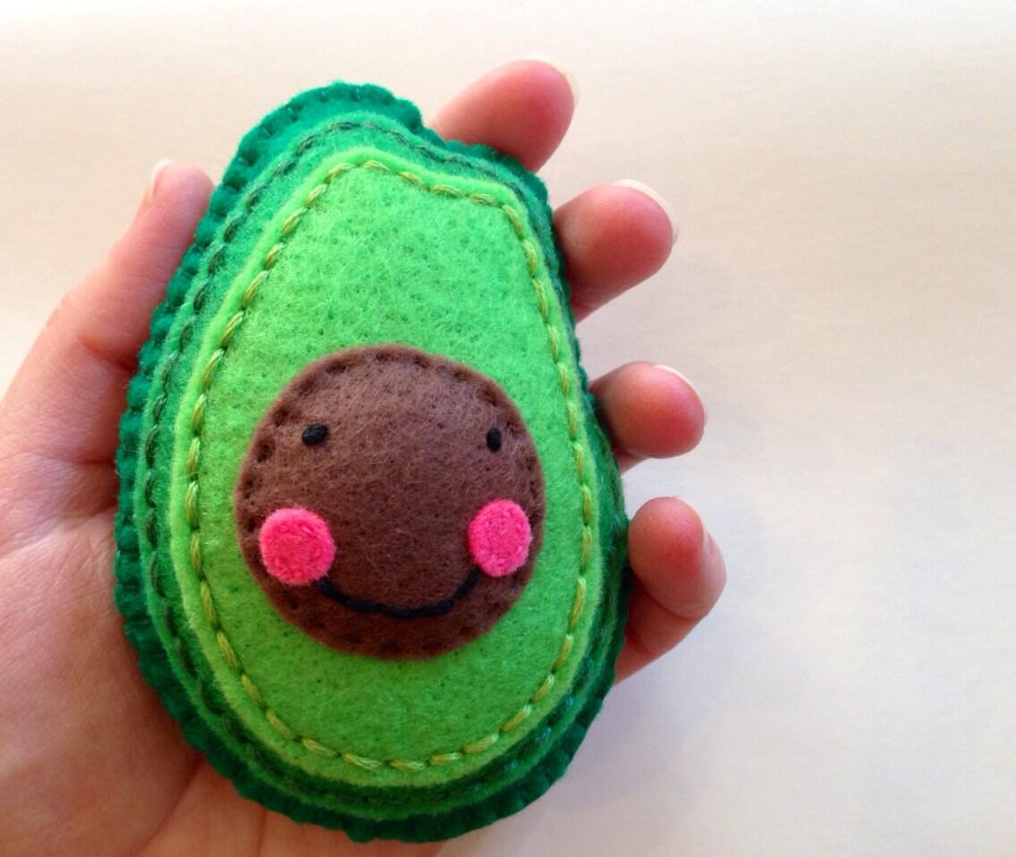 Plush Food Toys : Plush avocado felt food stuffed by snailandcicada