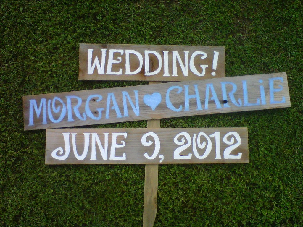 Wedding Signs Names And Date Sign Reclaimed Wood By