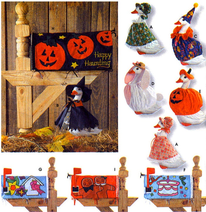 Rare Lawn Goose Sewing Pattern Geese Costume By Patterns4you