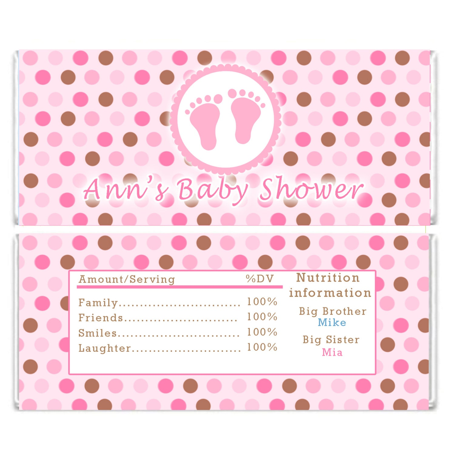 Pin free printable candy bar wrappers for baby shower on for Candy bar wrappers template for baby shower printable free