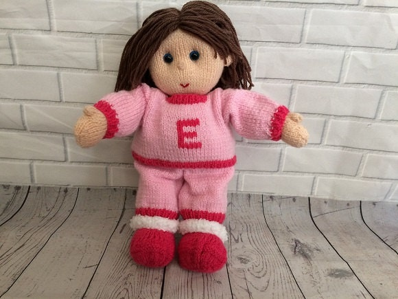 Knitted Doll Bedtime buddies CE Certified Nighttime friend Suitable from birth Keepsake doll Gift for baby childrens gift plush toy