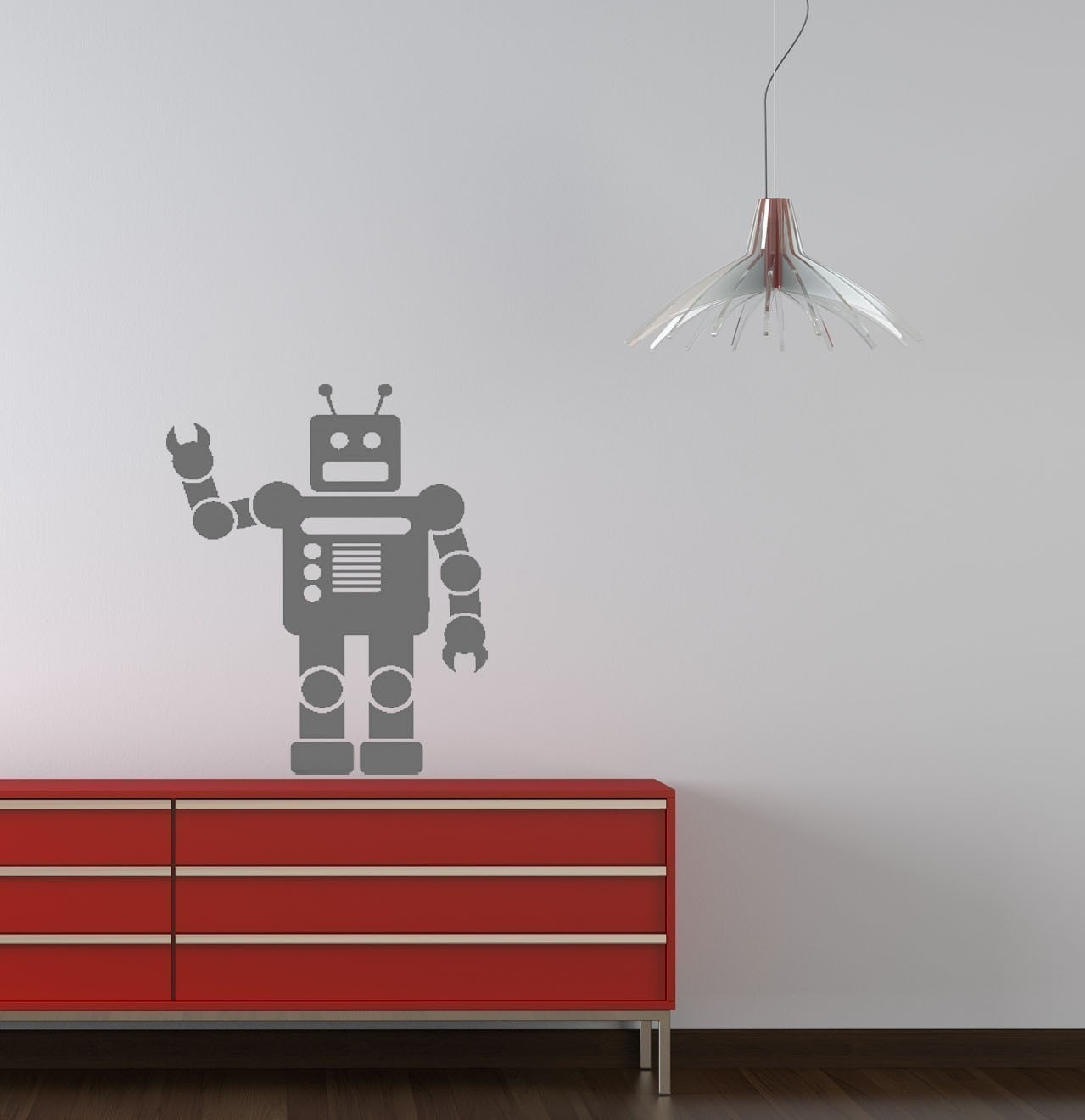 Robot Vinyl Wall Decal Medium