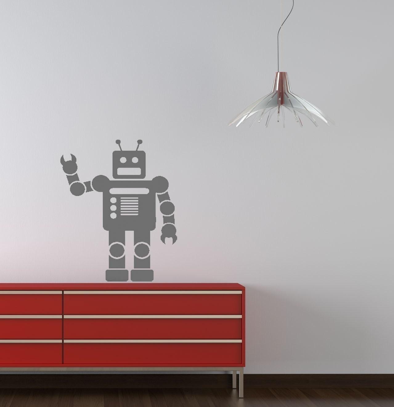 Robot Vinyl Wall Decal Medium