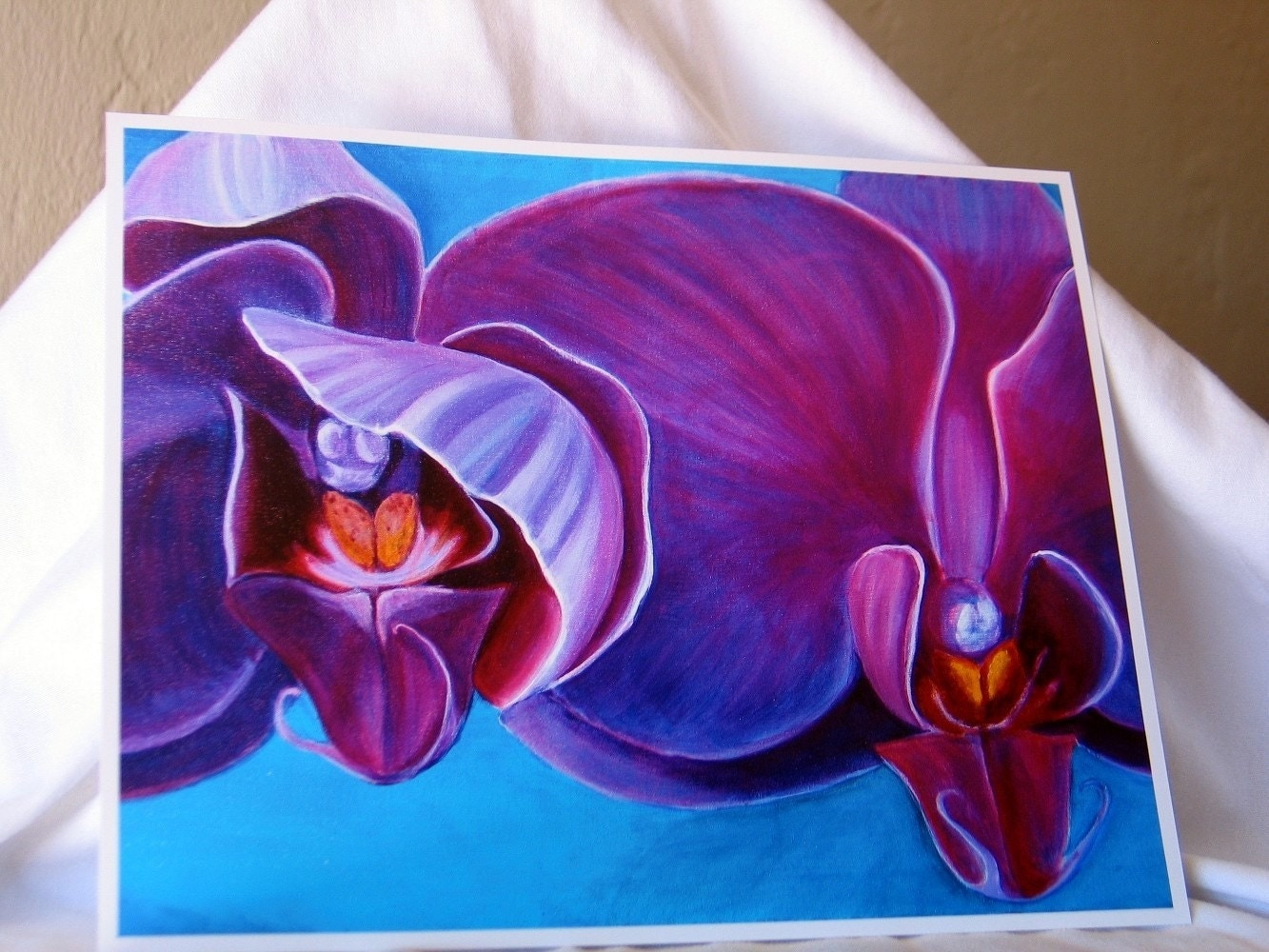 Bashful Bloomer-Purple Orchid-8x10 Reproduction Print