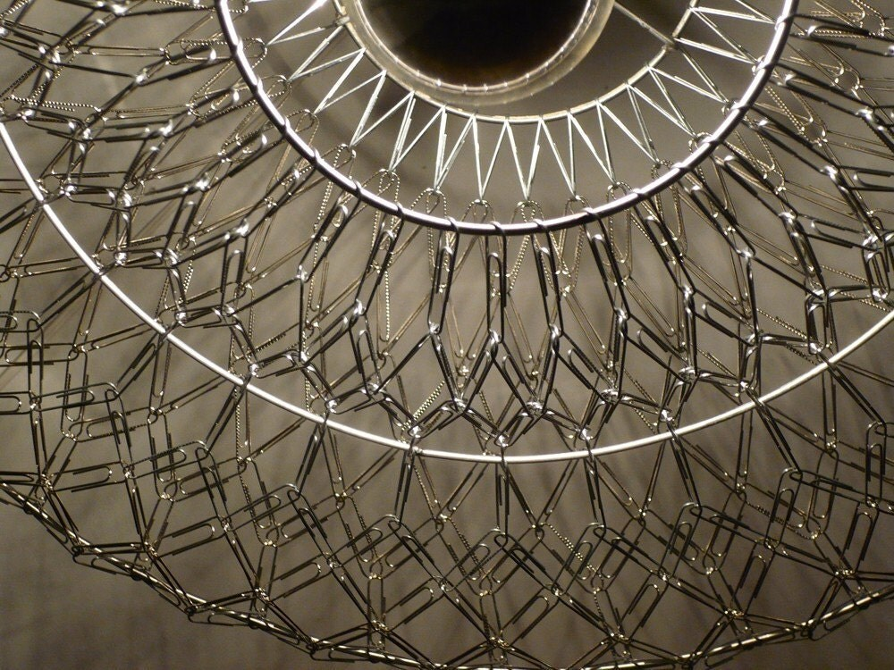 Helianthus Paper Clip Pendant Light Frame Only