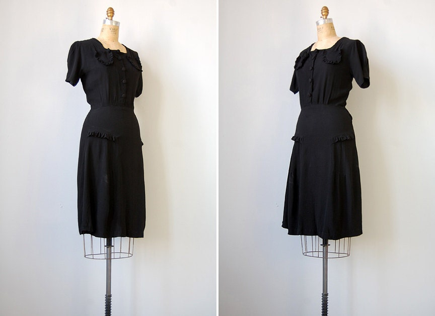 vintage 1940s dress / vintage 40s dress / Much Ado About Nothing Dress