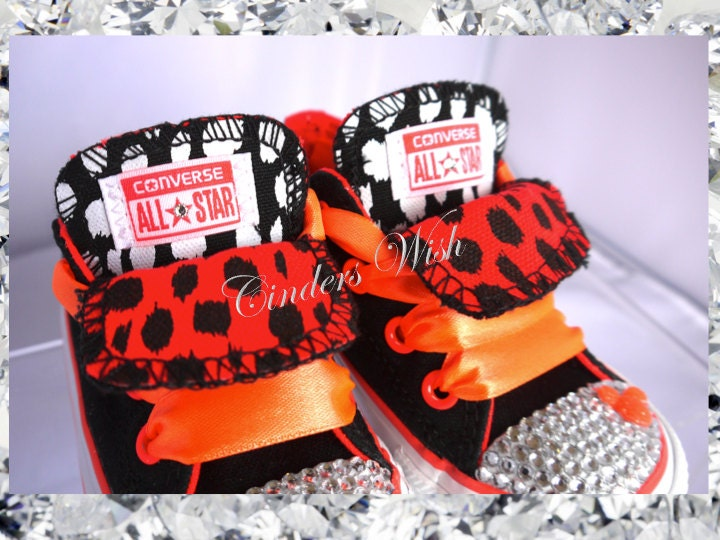 Mickey mouse converse  bling toe converseneon converse  kids customised converse  disney shoes  animal print converse  orange converse