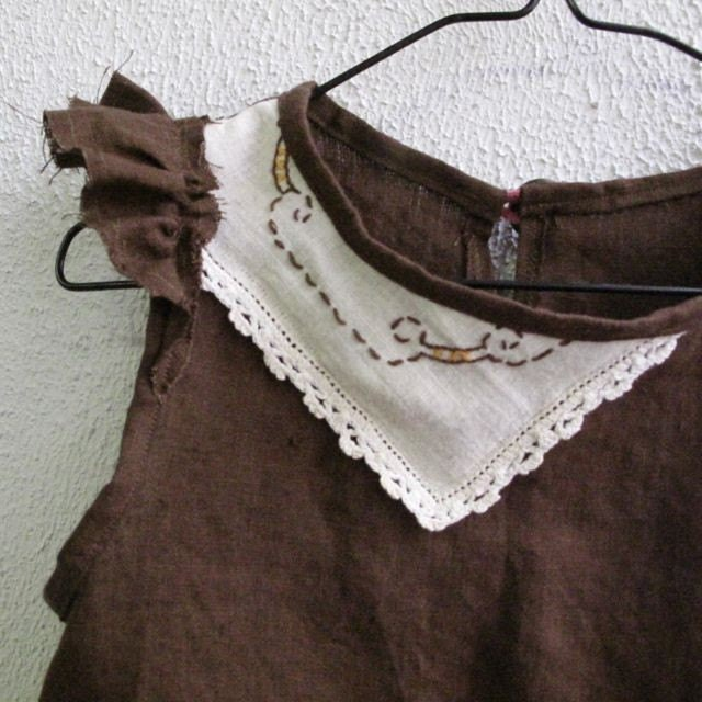 Linen Tea Party Tunic sz M(4/5T) READY TO SHIP