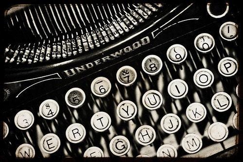 vintage typewriter - 8x12 fine art print in b&w or sepia