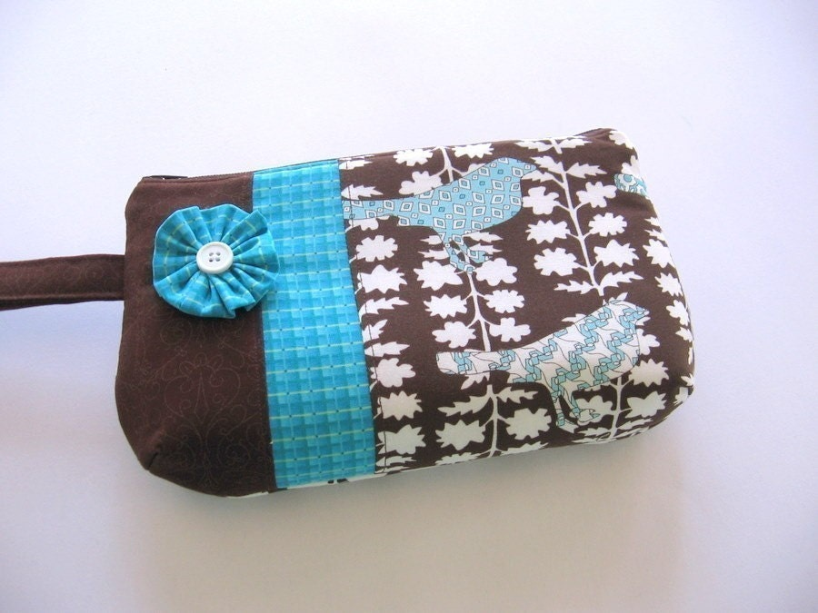 Urban Chiks Sparrows Wristlet/Cosmetic Bag