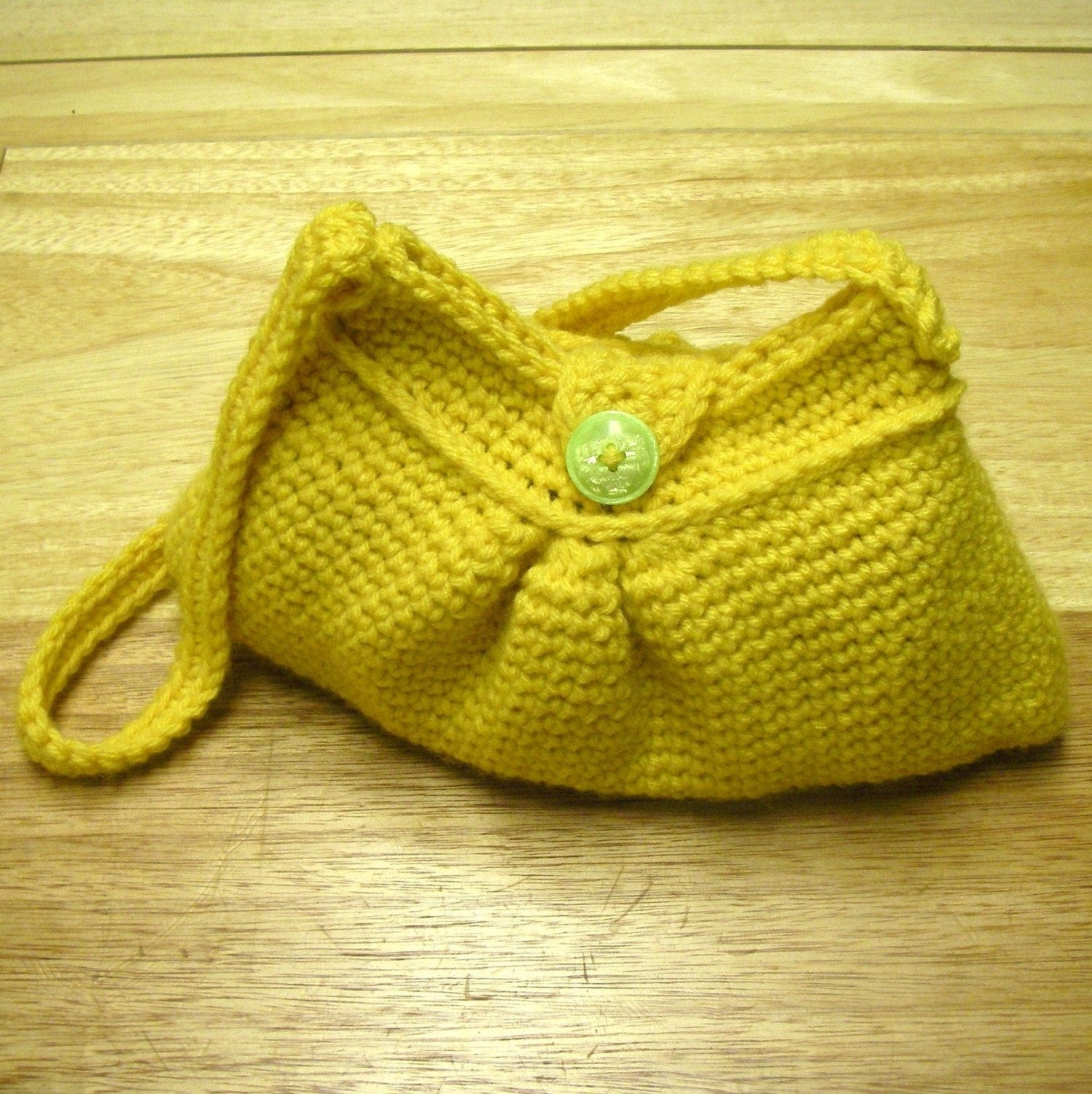 Crochet Simple Bag : Instant Download Crochet Pattern Easy Pleated Bag by Mamachee
