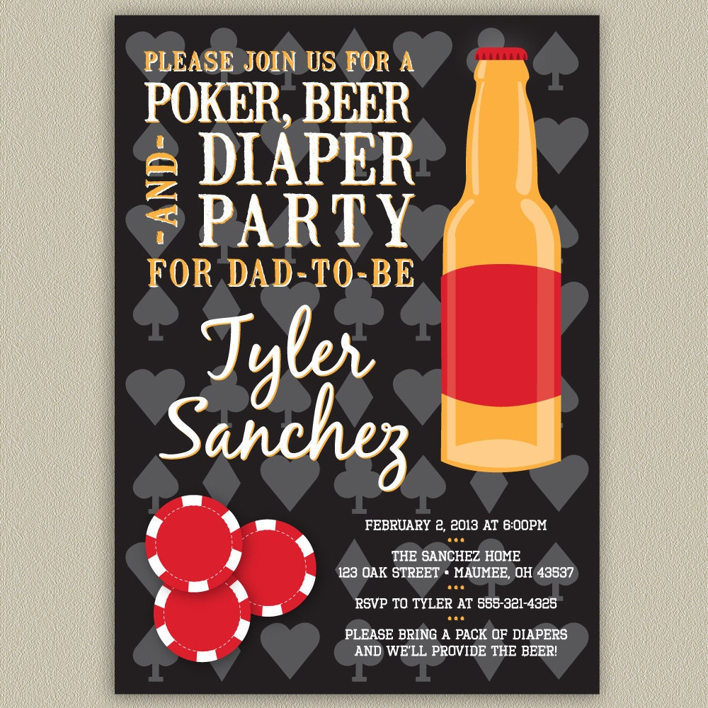 Diaper And Beer Party Invitations with awesome invitation example