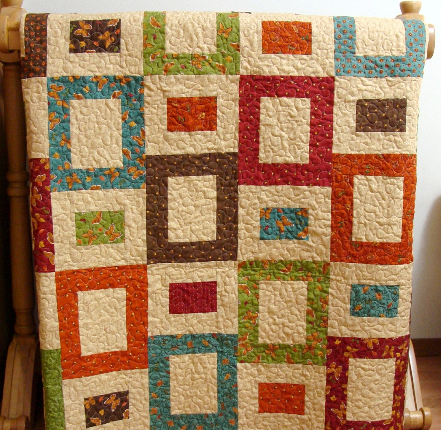 Peeking Thru Fall Windows Quilt