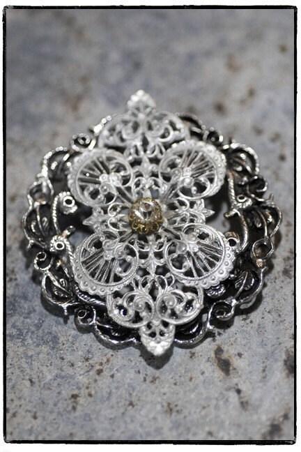 Elegant Silver Brooch