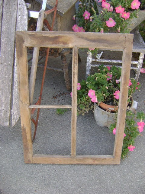 Old Wooden Window Frame by haylofttreasures on Etsy
