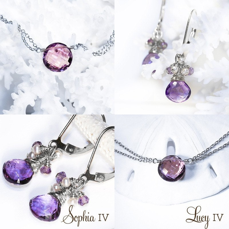 Lucy IV Necklace ... Amethyst